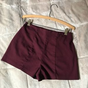 modern FOREVER 21 burgundy high-waisted shorts✨